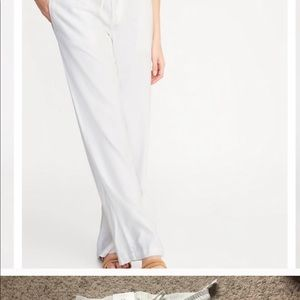 Old Navy White Linen pants size Petite Small NWT